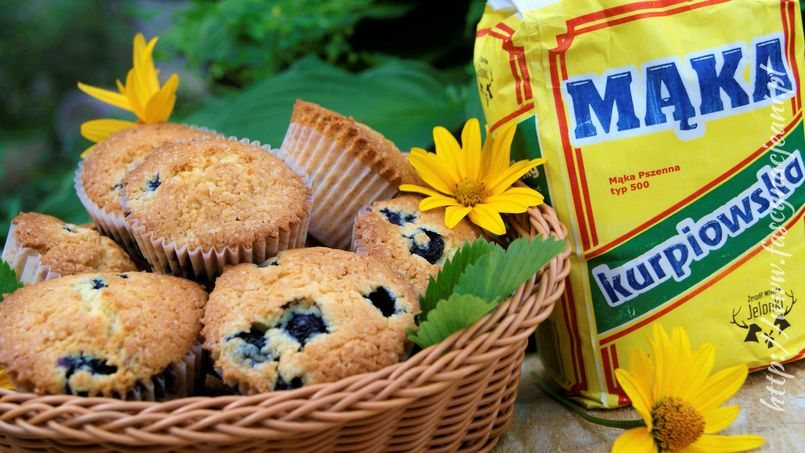 Muffinki z mascarpone i borówkami