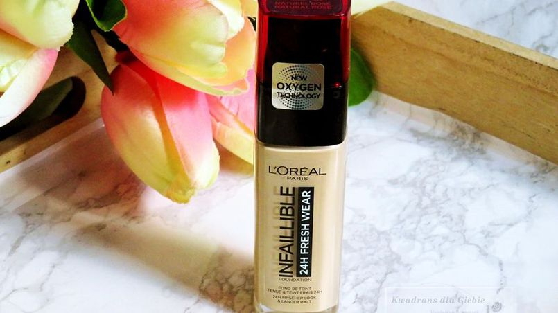 L`OREAL PARIS INFAILLIBLE 24H FRESH WEAR FOUNDATION - RECENZJA PODKŁADU