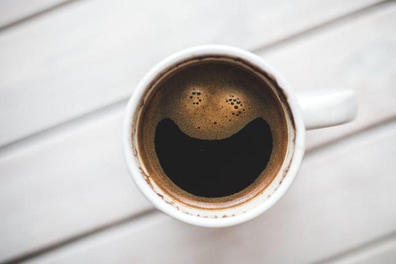 Muzyczna czarna kawa